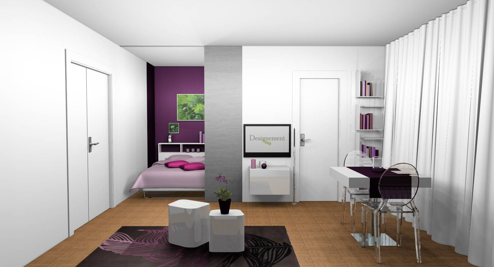 la d coration d int rieur de votre studio. Black Bedroom Furniture Sets. Home Design Ideas